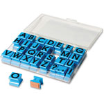 Educational Insights Alphabet Stamp Letters, 36Pcs, Blue