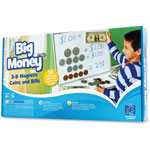 Educational Insights Big Money 3-D Magnetic Coins/Bills,
