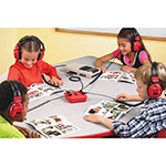 Educational Insights Listening Center, 4-Position Headphones, Red