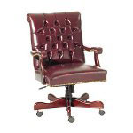 Lorell Swivel Task Chair, Burgundy
