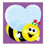"Trend Enterprises Bumble Bee Note Pad, 5""x5"", 50 sheets"