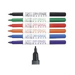 Quartet Dry-Erase Markers, Bullet Point, 6/ST, Assorted Colors