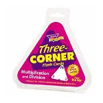 Trend Enterprises Three Corner Flash Card, Multiply and Divide, 5-1/2 Triangular