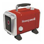 "Honeywell HZ-510 Red/Silver Ceramic Heater with 2 Heat Settings, 9 1/2"" x 13 5/8"" x 10 1/4"""