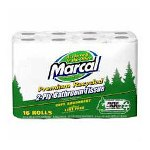 Marcal Bath Tissue, 2-Ply, 167 Sheets/Roll, 16 Rolls/PK, White