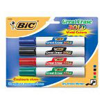 Bic Whiteboard Markers, Chisel Point, Asst