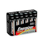 Energizer Alkaline Batteries, with 2Clipstritps, AAA, 4/PK, 24PK/CT