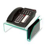 Deflecto Phone Stand, Nonskid Feet, Green Tint, Acrylic