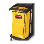 "Rubbermaid High Capacity Vinyl Bag for 9T72, 10-1/2"" x 33"" x 17-1/2"", Yellow"