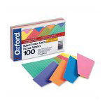 "Esselte Index Cards, Ruled, 5"" x 8"" Assorted"