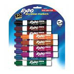 Sanford Dry-erase Markers, Low Odor, Chisel Point, 12/pack, Assorted