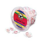 Genuine Joe Peppermint Puffs, Individually Wrapped In Reusable Tub, 20 oz