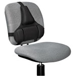 "Fellowes Black Adjustable Memory Foam Back Support, 14""x2""x15"""