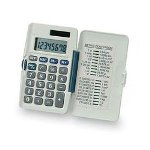 "Compucessory 02186 8 Digit Dual Power Pocket Calculator, 2 1/4""x3 3/4""x1/4"""