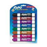 Sanford Dry-Erase Marker, Low Odor, Chisel Point, 8/ST, Assorted