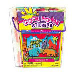 Fibre-Craft Zoo Foam Stickers, 6 oz. Bucket, Assorted Colors