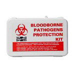 "R3 Safety Small Industrial Bloodborne Pathogen Kit, Plastic Case, 4.5""H x 7.5""W x 2.75""D"