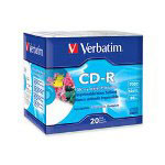 Verbatim Printable Glossy Slim Case CD-R Discs