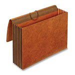 "Cardinal Brown Heavy Duty Legal Sized Wallet, 24 Pt., 5 1/4"" Expansion"