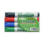 Shachihata. U.S.A. Whiteboard Marker with Bullet Point, Red/Black/Blue/Green