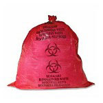 Unimed-Midwest Red Biohazard Waste Bags, 40-45 Gallons