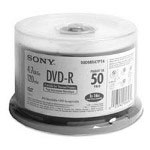 Sony DVD-R Disk, 16x, 4.7GB, Thermal Printable
