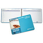 Ekonomik Systems Home/Office Budget Book, 56 Pages, 10 1/4 x 7 1/4, Aqua Leatherette Cover