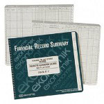 "Ekonomik Systems Record form, F/Bank Acct./Expense, with Pockets, 8-3/4""x10"""
