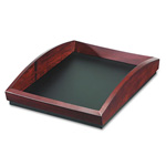 Eldon Executive Woodline II Front Loading Single Desk Tray, Mahogany Finish, Letter