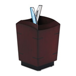 Eldon Executive Woodline II Pencil Holder, Mahogany Finish