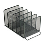 Eldon Expressions Wire Mesh Stackable Sorter, 5 Compartments, Black
