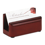 Eldon Wood Tones Business Card Holder, Holds 50 Cards, Mahogany