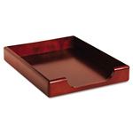 Eldon Wood Tones Letter Tray Desk Accessory, Front Load, Stacking, Mahogany