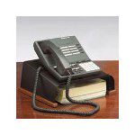 Eldon Distinctions® Wood and Punched Metal Telephone Stand, Metal/Black Wood