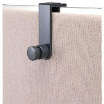 Eldon Over The Panel Single Hook, Polystyrene, Black