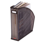 Eldon Next Generation Rolled Mesh Steel Standard Magazine File, Black