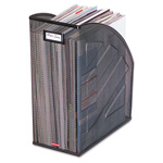 Eldon Next Generation Rolled Mesh Steel Jumbo Magazine File, Black