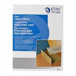 Elite Image Label Laser 1 1/3 X 4 1/4 Clear