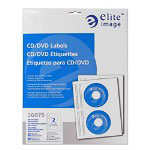 Elite Image Label CD/DVD InkJet Glossy White 20 Pack