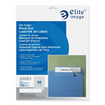 Elite Image White Block Out Folder Label, Permanent Adhesive, 1/3 Cut
