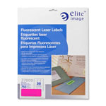 "Elite Image Permanent Adhesive Printer Labels, 1""x2-5/8"", Neon pink"