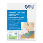 "Elite Image Printer Labels, Permanent Adhesive, 1"" x 2-5/8"", 750/PK, Neon Green"