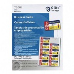 Elite Image Business Cards For Laser Printers, 400/BX, White