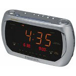 Emerson Dual Alarm Clock Radio w/Triple Display
