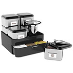 Mind Reader Loose-Leaf Tea Organizer, Black/Silver, 6 Canisters w/1 Tray