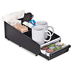 Mind Reader Vesta Condiment Organizer W/Drawer, 7 1/8w x 14 7/8d x 4 7/8h, Blk/Chrome