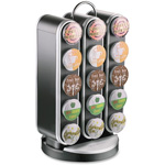 Mind Reader Coffee Pod Carousel, 30 Pod Capacity, Black