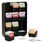 Mind Reader Baggy Nine-Drawer Tea Bag and Accessory Holder, Black, 10.24 x 4.33 x 13.11