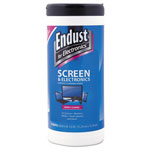 Endust LCD & Plasma Screen Wipes, Premoistened, 70/Canister