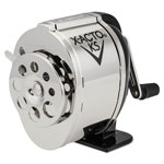 Elmer's Model KS Table or Wall Mount Pencil Sharpener, Chrome Receptacle, Black Base